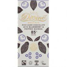 Divine Fairtrade Chocolate With Blueberry & Popped Quinoa 80g